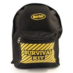 MST44 Durable Black Backpack from Sunset Survival and First Aid, Emergency Kits, Survival Supplies, Disaster Preparedness