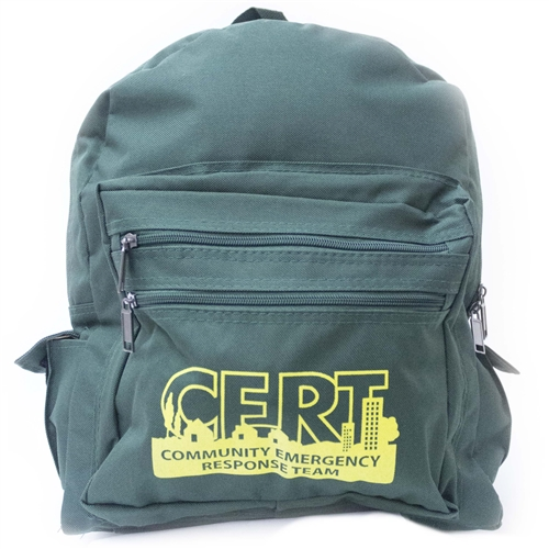 MST44G-CRT Green CERT Backpack from Sunset Survival and First Aid, Emergency Kits, C.E.R.T. Supplies, Disaster Preparedness