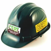 MT77CRT-DLX Deluxe C.E.R.T. Hard Hat with Hi-Vis Safety Labels from Sunset Survival and First Aid, Emergency Kits, C.E.R.T. Supplies, Disaster Preparedness