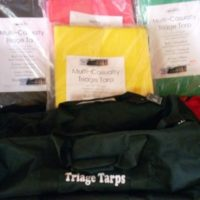 Triage tarps carry bag, disaster response, school safety kits, active shooter emergency