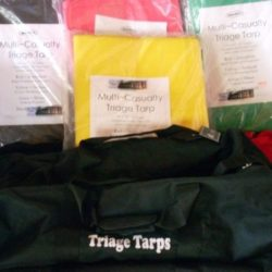 MTR07-KT Triage tarps set with carry bag, disaster relief, emergency rescue tarps from Sunset Survival & First Aid responder supplies, CERT, responder supplies