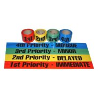 MTR46-SET Non-adhesive 4-color Triage Ribbon Set from Sunset Survival and First Aid, Emergency Responder Supplies, Survival Kits, Disaster Preparedness