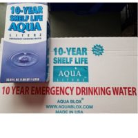 MWA10C Aqua Literz Emergency Water Box 10 year survival kits