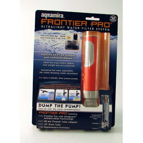 MWA22-FR1 Aquamira Emergency Water Filter from Sunset Survival and First Aid, Emergency Kits, Survival Supplies, Disaster Preparedness, Earthquake Kits