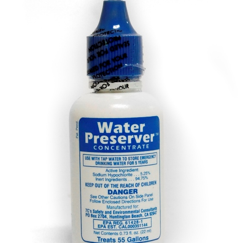 MWA99 5-year Water Preservative for 55-gal water barrel from Sunset Survival and First Aid, Emergency Preparedness Kits, Survival Supplies