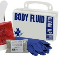 Biohazard Body Fluids Clean Up Kit in Case, School Bus Kit