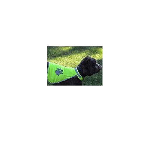 SS-PET-PAW Pet Safety Vest with Reflective Paw Prints from Sunset Survival and First Aid, pet travel kits, disaster preparedness, emergency supplies